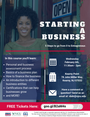 Starting a Business: Learn how to go from 0 to entrepreneur. @ Kearny Point