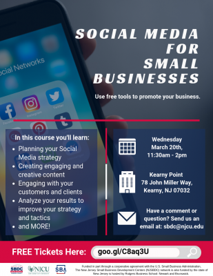 Social Media for Small Businesses: Learn how to use free tools to promote your business. @ Kearny Point
