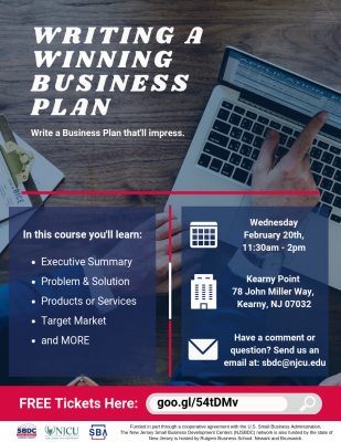 Writing a Winning Business Plan: Learn how to write a plan that will impress. @ Kearny Point