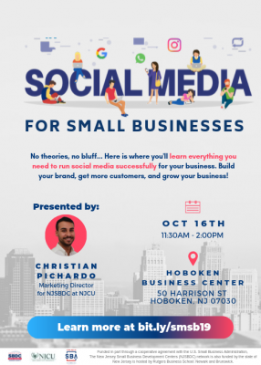 Social Media for Small Businesses @ Hoboken Business Center