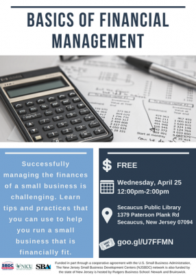 Basics of Financial Management @ Secaucus Public Library