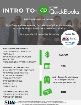 Intro to Quickbooks Workshop @ North Bergen Public Library