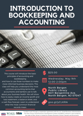 Introduction to Bookkeeping and Accounting @ North Bergen Public Library
