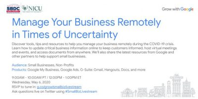 Manage Your Business Remotely in Times of Uncertainty @ Online