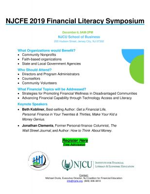 NJCFE 2019 Financial Literacy Symposium @ New Jersey City University