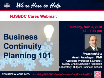 Business Continuity Planning 101 Webinar