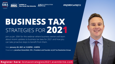 Business Tax Strategies for 2021 @ Zoom