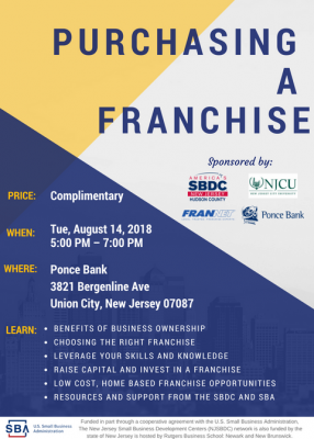 PURCHASING A FRANCHISE @ Ponce Bank