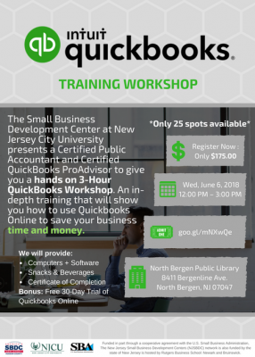 QuickBooks Training Workshop @ North Bergen Public Library