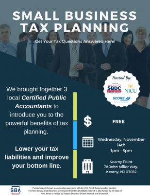 CPA Forum- Small Business Tax Planning @ Kearny Point