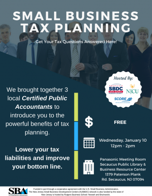 Small Business Tax Planning @ Secaucus Library