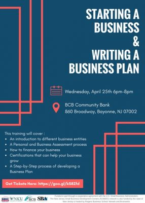 Starting a Business & Writing a Business Plan @ BCB Community Bank