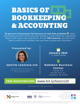 Basics of Bookkeeping and Accounting @ Hoboken Business Center