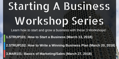 "STRUP 101: How to Start a Business (from the ""Starting a Business Workshop Series"") @ Jersey City- City Hall"