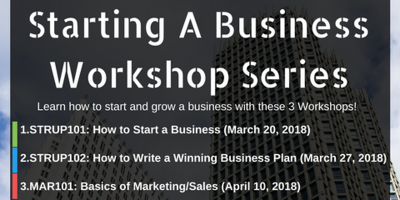 "MAR 101: Basics of Marketing/Sales (from the ""Starting a Business Workshop Series"") @ Jersey City- City Hall"