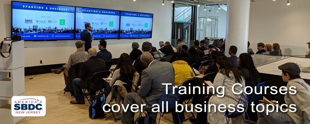 Training Courses cover all business topics. America's Small Business Development Center New Jersey.